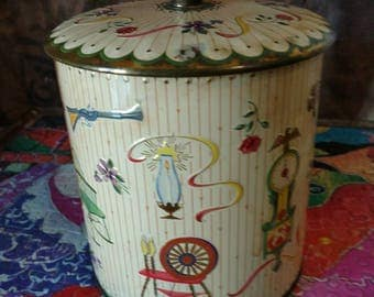 """11960""""s Collectable Daher Tin Made in England"""