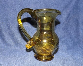 Vintage Small Yellow/Green Pitcher