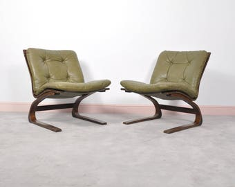 Norwegian Kengu Lounge Chair by Elsa & Nordahl Solheim for Rybo Rykken, 1976,set of 2