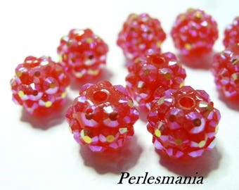 Primer 10 pearls Garnet pink shambala 12 by 14mm