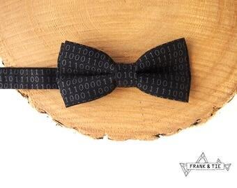 Binary code bow tie Kids bow tie Black and white bow tie Baby bow tie Computer bow tie Geek bow tie Numbers