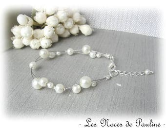 Wedding bracelet ivory Diana v2 'Tradition'