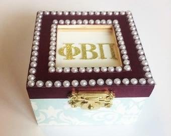Angels: Sorority pin box, Handmade, Choose any Sorority