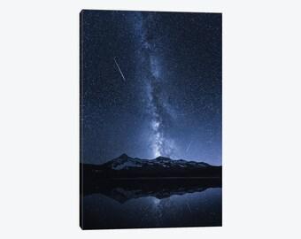 Shooting Star, Shooting Star Photo, Falling Star, Galaxy's Reflection Night sky, Photography, Comets, Canvas Wall Art, Home Wall Decor Gift