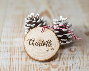 Wooden Personalised Christmas Family Decoration