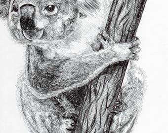 Inktober #7 2017 - Koala [PRINT]