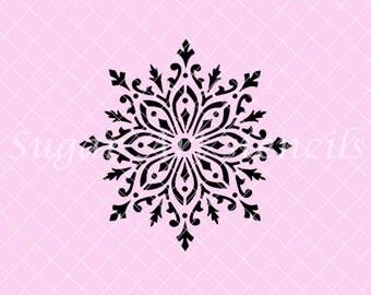 Snowflake stencil NB2207 winter Christmas Holiday
