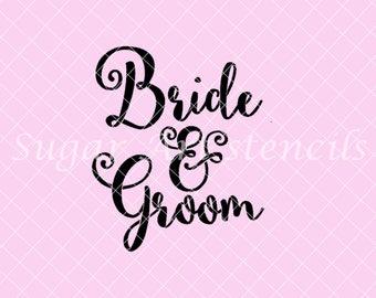Bride & Groom stencil NB900224