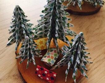 Décoration de table - Village de noël miniature