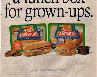 1996 Oscar Mayer Lunch Meats Vintage Magazine Ad wall decor meat shop  1707