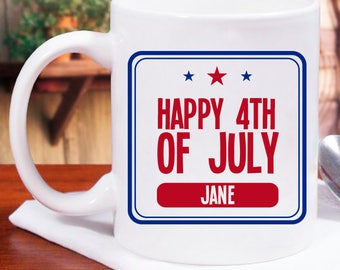 Happy 4th of July Personalized Mug