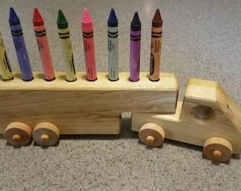Wooden Crayon Truck