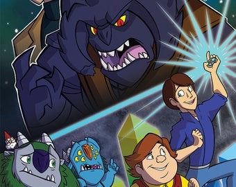 Trollhunters Print with Jim, Toby, Blinky, ARRRGH, Bular, and Strickler