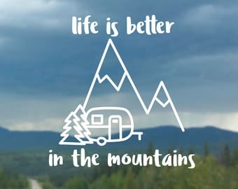 Life is better Camping with Boler/Camper or Tent decal