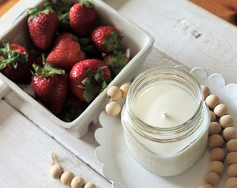 Strawberry Fields, Hand Poured Soy Candle