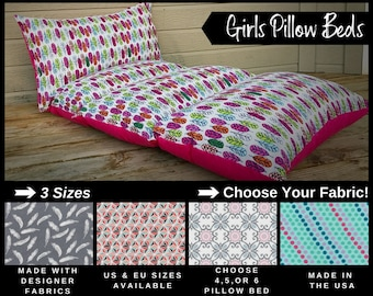 Girls Nap Mat - Preschool Nap Mat - Toddler Nap Mat - Pillow Mattress - Kids Nap Mat - Girls Pillow Bed - Girls Room Decor - Kids Pillow Bed