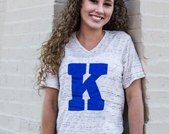 Kentucky Wildcats Shirt, Kentucky Tshirt, Kentucky Wildcats, Kentucky Tee, Power K, Big K, V neck, Kentucky Shirt, University of Kentucky