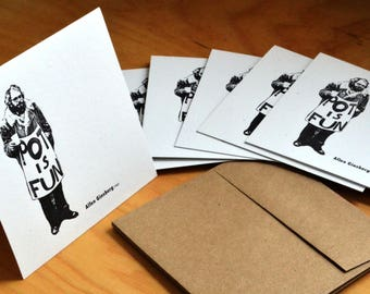 SET OF 6 Ginsberg Greeting Card