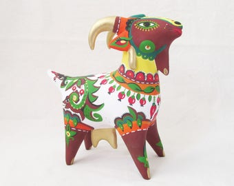 Beauty Goat sculpture primitive art collectible art whistle toy gift for kids