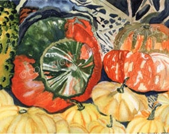 Limited Edition, autumn pumpkins and gourds, for kitchen, diningroom interior design, Thanksgiving, Harvest Festivals, Holidays