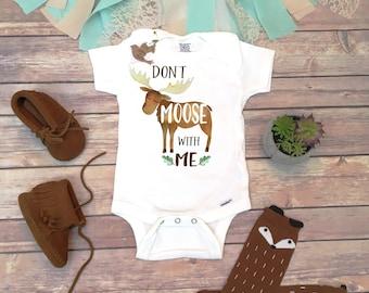 Unique Baby Gift, Moose Onesie®, Baby Boy Clothes, Funny Onesies, Woodland Baby Shower Gift, Moose Baby, Cute Baby Onesies, Canada Onesie