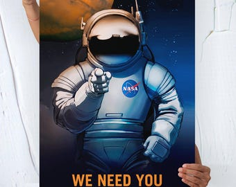 Nasa Mars ( WE NEED YOU ) - Travel Poster