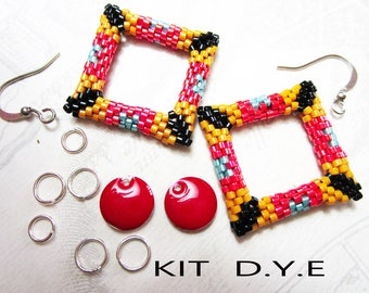 Set of earrings with Miyuki beads to fit properly