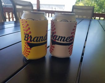 Softball Can Holder, Personalized