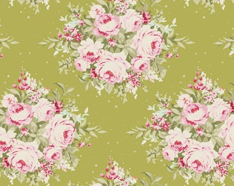 Tilda Fabric Autumn Trees Floribunda On Green TD481041