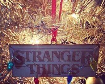 Stranger Things Laser Cut Wood Ornament