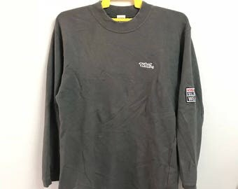 Vintage VISION STREET WEAR sweatshirt small logo spell out embroidery black colour  large size (B6)