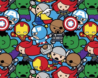 Kawaii Marvel Heroes Cotton fabric
