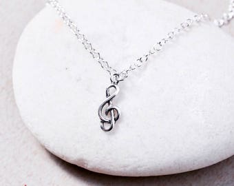 Sterling Silver Anklet, Silver Anklet Musical Note Charm, Real Silver Chain,Delicate Anklet, SilverFoot Chain, Anklet,(AS 45)