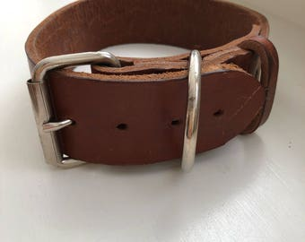 Huge Genuine Leather Dog Collar
