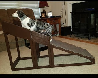 """24"""" Bed Ramp with removable safety rails."""