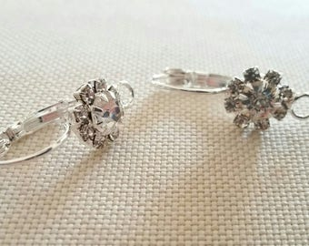 1 pair medium silver plated earrings