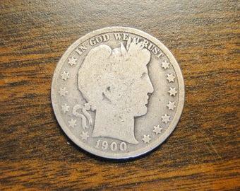 1900 Barber Half Dollar - Nice Old Coin!
