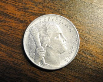 1950 Italy 5 Lira - Nice Find!  #511