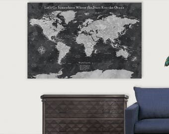 World map pin board etsy world pushpin map world travel map pin board push pin travel map canvas push pin travel gumiabroncs Image collections