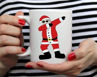 Funny Dabbing Santa Coffee Tea Mug - Christmas Gift Idea