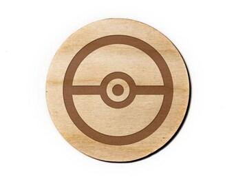 Pokemon Engraved Birch Coasters