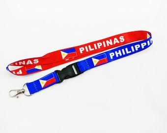 Philippines/Pilipinas flag reversible lanyard