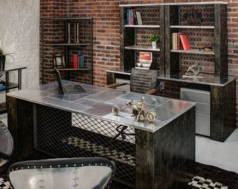 Urban-Industrial Executive Desk
