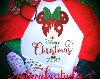 disney shirt - disney Christmas shirt - mickey's very merry Christmas party - disney world shirt -  disney vacation t-shirt - disney raglan