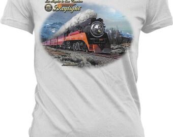Winter Daylight, Los Angeles to San Francisco Juniors T-shirt, NOFO_01068