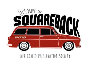 VW Squareback Type 3 T-Shirt