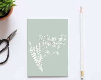 Be Firm Christian Scripture Postcards, Christian Gifts - Faith Gifts - Eco friendly