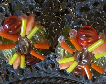 Vintage Yellow and Orange Clips