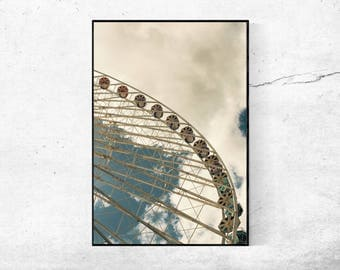 Ferris wheel 03 ferris wheel photography Photography poster vintage from 45 x 30 cm