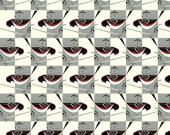 Charley Harper Spotted Towhee Half-Yard Organic Poplin Fabric